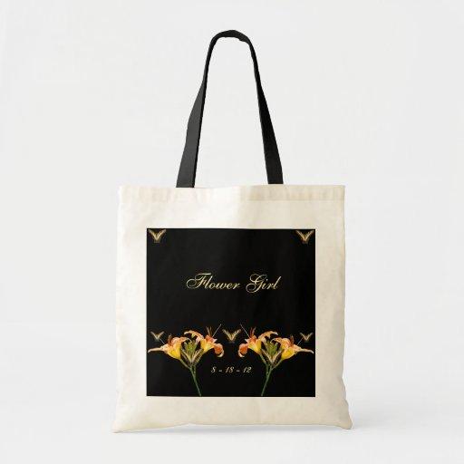 Lirios y mariposas bolsa tela barata