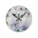 Lirios y orquídeas relojes de pared