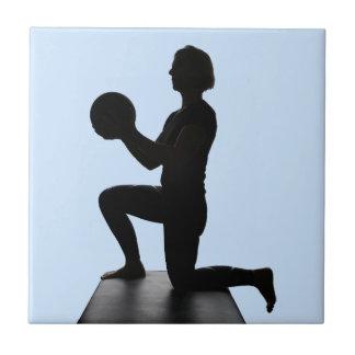 Lisa Carusone with Ball Ceramic Tile