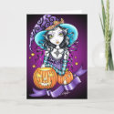 Lisa Gothic Halloween Witch Card card