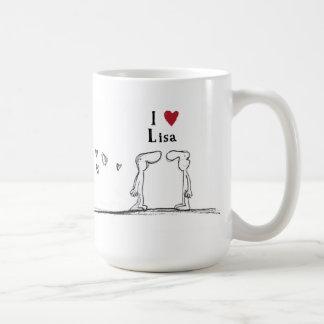 "Lisa ""I love lisa"" ""I heart lisa"" Coffee Mug"