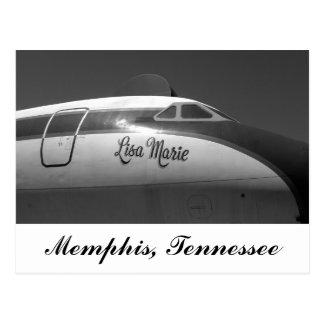 Lisa Marie Airplane Memphis Tennessee Postcard
