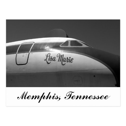 Lisa Marie Airplane Memphis Tennessee Postcards
