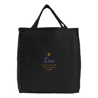 Lisa Name With English Meaning Black Embroidered Bags
