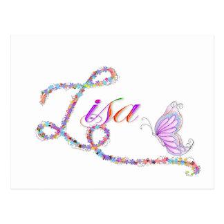 lisa postcard