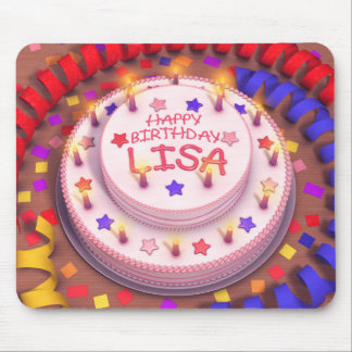 Lisa's Birthday Cake Mouse Pad