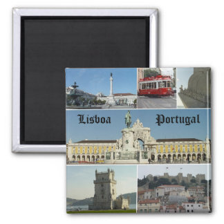 Lisbao, Lisboa,  Portugal 2 Inch Square Magnet
