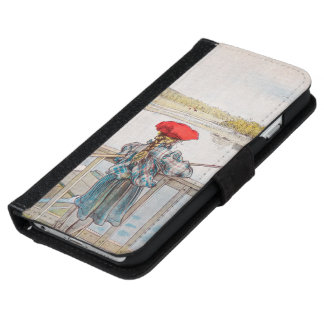 Lisbet Fishing by Carl Larsson, Vintage Art Wallet Phone Case For iPhone 6/6s