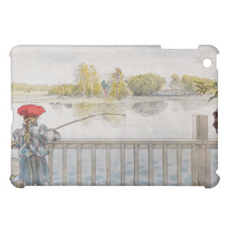 Lisbeth a Little Girl Fishing by Carl Larsson Cover For The iPad Mini
