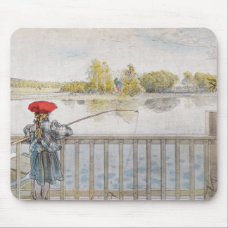 Lisbeth a Little Girl Fishing by Carl Larsson Mouse Pad