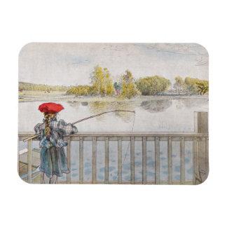 Lisbeth a Little Girl Fishing Magnet