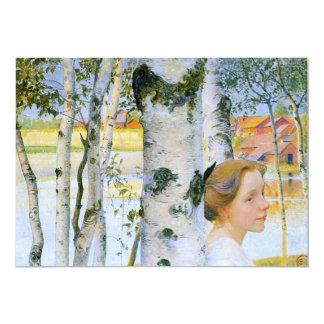 "Lisbeth  at the Birch Trees 5"" X 7"" Invitation Card"