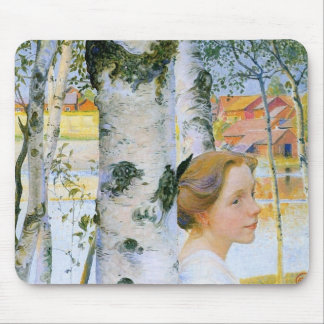Lisbeth  at the Birch Trees Mouse Pad