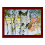 Lisbeth  at the Birch Trees Post Cards