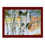 Lisbeth  at the Birch Trees Postcard