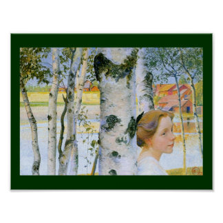 Lisbeth  at the Birch Trees Poster