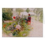 Lisbeth en el jardín de flores felicitacion