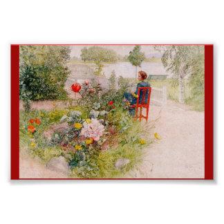 Lisbeth en el jardín de flores fotografías
