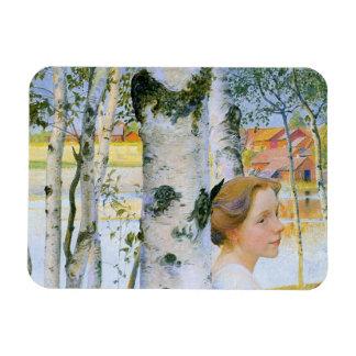 Lisbeth en los árboles de abedul imán