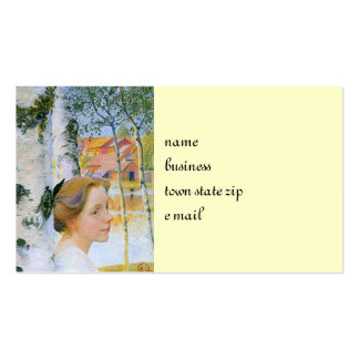 Lisbeth en los árboles de abedul tarjetas de visita