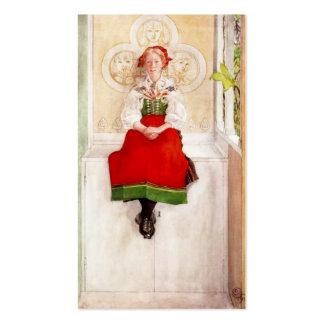 Lisbeth en su vestido de Sundborn Tarjetas De Visita