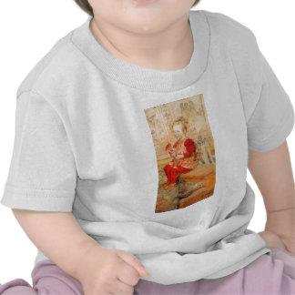 Lisbeth en un puente rojo camiseta
