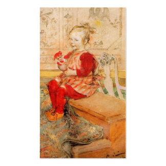 Lisbeth en un puente rojo plantillas de tarjetas de visita