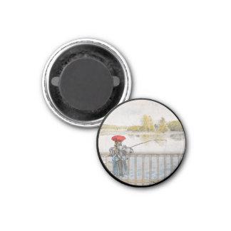 Lisbeth Fishing 1898 1 Inch Round Magnet