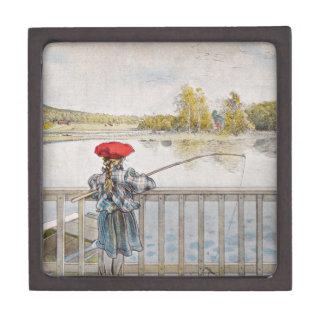 Lisbeth Fishing 1898 Keepsake Box