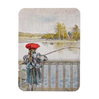 Lisbeth Fishing 1898 Rectangular Photo Magnet