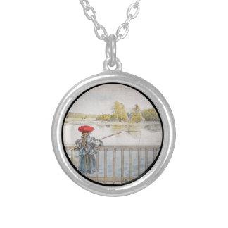 Lisbeth Fishing 1898 Round Pendant Necklace