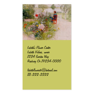 Lisbeth  in the Flower Garden Business Card