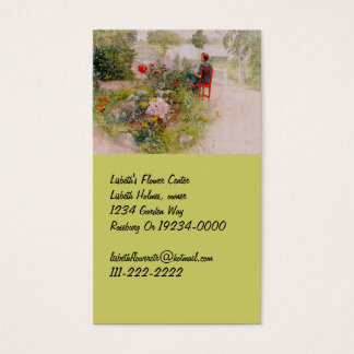 Lisbeth  in the Flower Garden Business Card