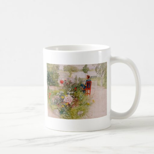Lisbeth  in the Flower Garden Coffee Mug