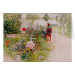 Lisbeth  in the Flower Garden Greeting Card
