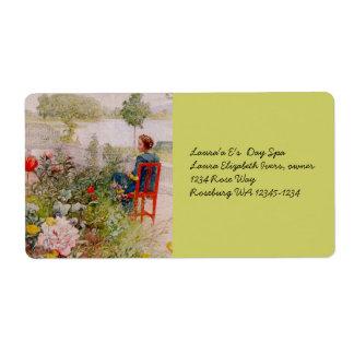 Lisbeth  in the Flower Garden Shipping Label