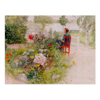 Lisbeth  in the Flower Garden Postcard