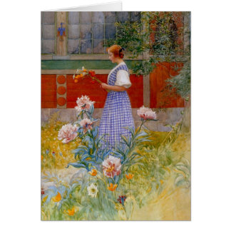 Lisbeth with Peonies Card