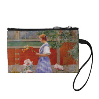 Lisbeth with Peonies Change Purse