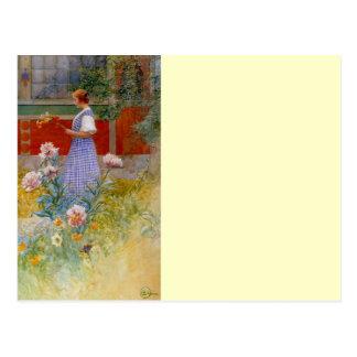 Lisbeth with Peonies Postcard