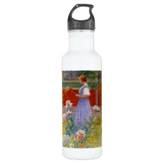Lisbeth with Peonies Water Bottle
