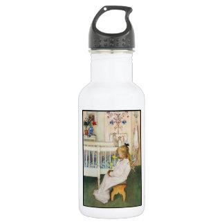 Lisbeth with Yellow Tulip Water Bottle