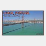 Lisboa - 25ta del puente de abril rectangular pegatinas