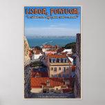 Lisboa - barco en el Tejo Póster