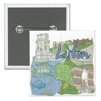 Lisboa Pin Cuadrado