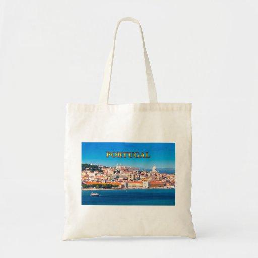 Lisbon 002D Tote Bags