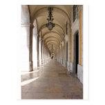 Lisbon arches postcard