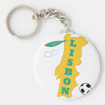 Lisbon Basic Round Button Keychain