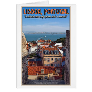 Lisbon - Boat on the Tejo Card