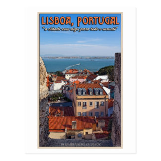 Lisbon - Boat on the Tejo Postcard